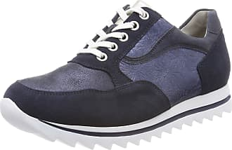 Waldläufer Womens Haiba Oxfords, Blau (Velour Glitter Margo Glit Deepblue Notte), 5 UK