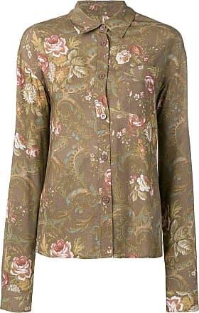 Han Kjobenhavn Camisa com estampa floral - Marrom