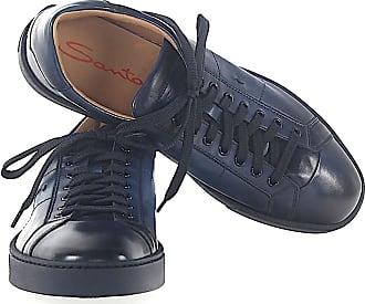 Santoni Low-Top Sneakers 20374 calfskin Logo blue