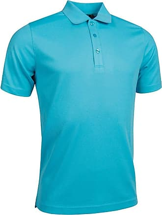 Glenmuir Mens MSP7373 Performance Pique Polo Shirt Aqua L