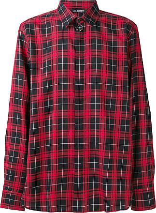 Neil Barrett Camisa xadrez - Vermelho