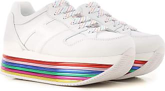 9fca3c6b1d5 Hogan Sneaker Femme Pas cher en Soldes, Blanc, Cuir, 2017, 9