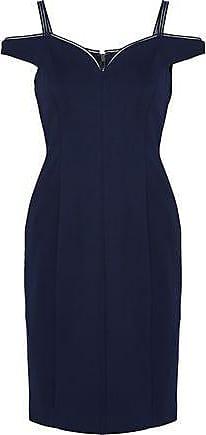 f04a160e303e0 Elie Tahari Elie Tahari Woman Cold-shoulder Crepe Dress Navy Size 2