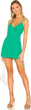 Superdown Lamiae Wrap Dress in Green