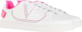 Valentino Sneakers - Backnet Sneaker Leather Bianco Fuxia Fluo - white - Sneakers for ladies