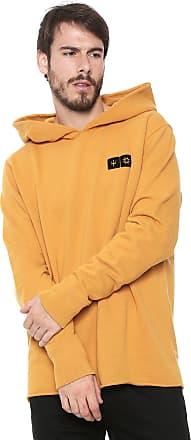 Osklen Moletom Fechado Osklen Hoodie Texture Cristal Amarelo