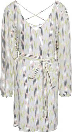Eberjey Eberjey Woman Belted Printed Voile Mini Dress Blush Size S/M