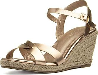 Truffle Bonny Womens Rose Gold Wedge Sandal - Size 6 UK - Multicolour
