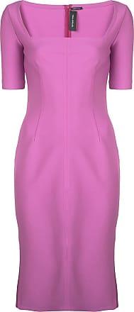 Yigal AzrouËl square neck shift dress - Purple