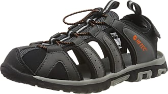 Hi-Tec Mens Cove Breeze Closed Toe Sandals, Grey (Charcoal/Cool Grey/Black/Red Orange 51), 10 UK (44 EU)