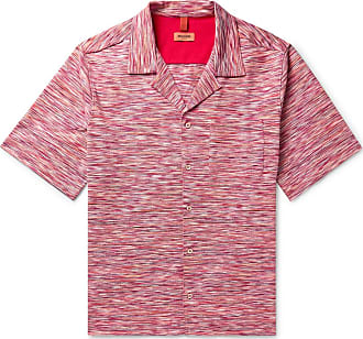 Missoni Camp-collar Space-dyed Cotton-piqué Shirt - Red