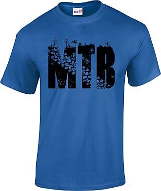 Bang Tidy Clothing Mens MTB Mountain Biking T Shirt Royal L