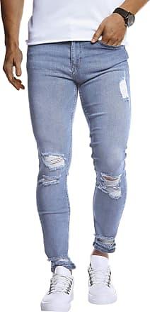 LEIF NELSON Mens Jeans Trousers Pants LN-9145 Light Blue W34/L32