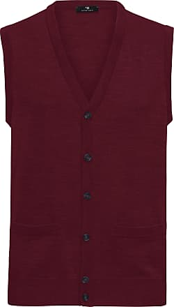Peter Hahn Waistcoat in 100% new milled wool Peter Hahn red