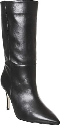 Office Koffee- Pointed Calf Boot Black Leather - 6 UK