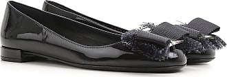 Salvatore Ferragamo Ballet Flats Ballerina Shoes for Women On Sale in Outlet, Black, Patent Leather, 2017, 5