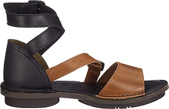 FLY London Womens FOXY476FLY Ankle Strap Sandals, Brown (Camel/Black 004), 7 (40 EU)