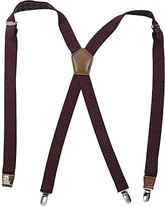 Dockers Mens Dobby Print Suspenders, Maroon, One Size