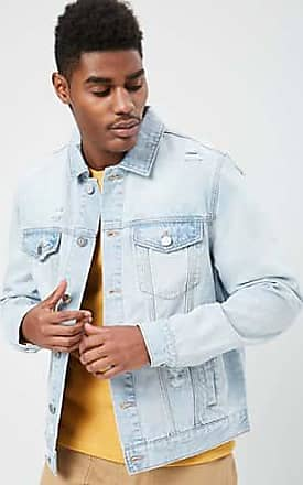 21 Men Distressed Denim Jacket at Forever 21 Light Denim