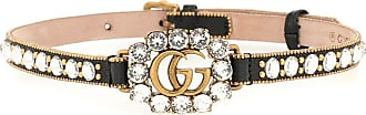 Gucci Double G embellished leather choker
