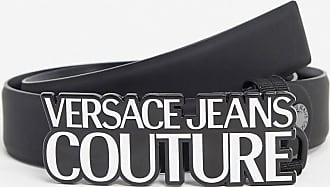 Versace Jeans Couture logo buckle belt-Black