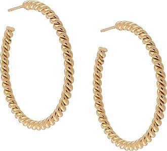 Isabel Lennse Par de brincos de argolas grande - Dourado