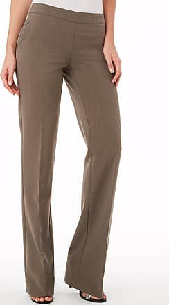 Alloy Apparel Sullivan Side Zip Flare Pants for Tall Women Khaki Size 11/32 - Polyester/Spandex
