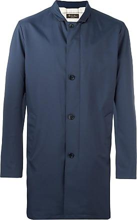 Loro Piana classic midi coat - Blue