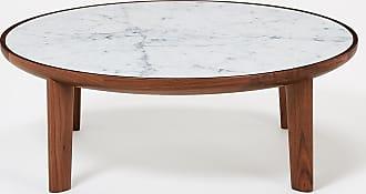 The Conran Shop Hole Coffee Table Walnut & Carrara Marble