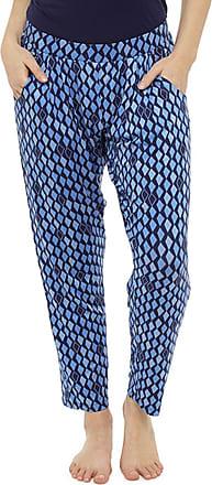 Tom Franks Womens Lightweight Hareem Summer Trouser Bottoms Lounge Wear Pants - Blue - 16