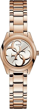 Acotis Limited Guess Watches Guess Ladies Rose Gold White Logo Dial Watch W1147L3