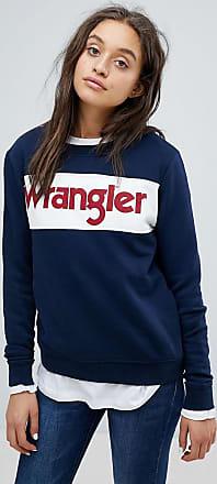 Wrangler Felpa a blocchi di colore con logo-Navy