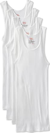 Hanes Ultimate Mens 4-Pack FreshIQ Tank - White - M