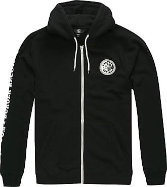 Volcom Mens Burger X Zip Up Fleece Cotton Lightweight Jacket, Black, Medium