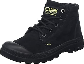 d5f691de7b473 Palladium Womens Pampa Lo Cuff Lea Ankle Boots, (Black/Green Sheen P61)