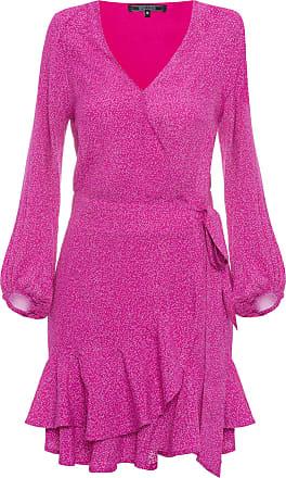 Shoulder Vestido Cachecouer Curto Estampado - Rosa