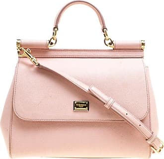549fc7e2352b Dolce   Gabbana Dolce And Gabbana Blush Pink Leather Medium Miss Sicily Top  Handle Bag