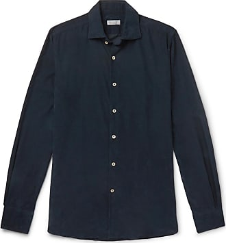 Incotex Ween Slim-fit Cotton-corduroy Shirt - Navy