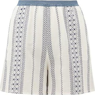 Zeus + Dione Ios Embroidered Voile Shorts - Womens - White Multi