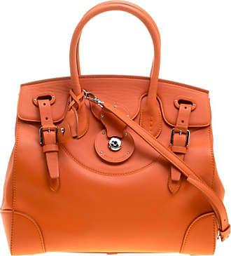 a162ab169f7d ... darwin 7932d 2b173 shop ralph lauren orange leather ricky top handle bag  e1da9 33946 ...