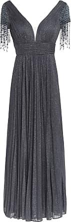 Unique Abendkleid mit Stola - GRAU