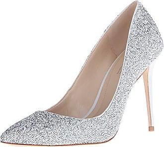 Imagine Vince Camuto Womens Im-Olson Dress Pump, Crystal/Silver, 5.5 M US