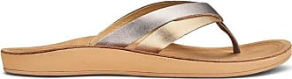 Olukai Kaekae Sandals - Womens Silver/Golden Sand 5