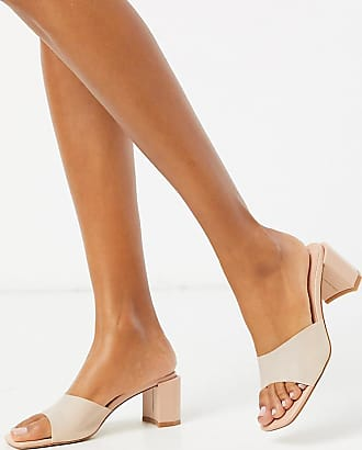 Z_Code_Z Exclusive Zika vegan block heel sandals in blush frost-Pink