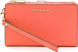 Michael Michael Kors Carteira Jet Set Wristlet de couro - Rosa