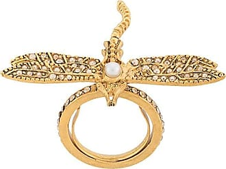 Oscar De La Renta Dragonfly crystal-embellished ring - CRY GOLD SHADOW