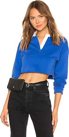 Superdown Zolee Cropped Polo Top in Blue
