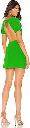 Superdown Anais Open Back Dress in Green