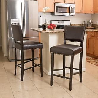 BEST SELLING HOME Cleveland Bar Height Stool with Cushion - Set of 2