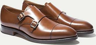 Hackett Mens Double Monk Strap Leather Shoe | Size 90 | Brown